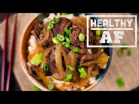 Slow Cooker Mongolian Beef l Healthy AF