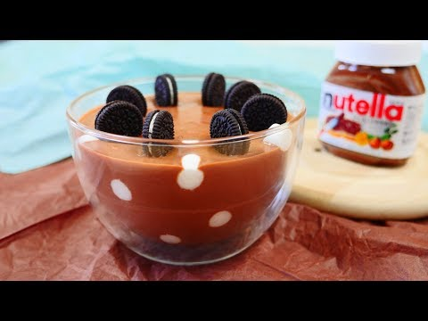 Nutella Polkadot Mousse With Oreos オレオをのせたヌテラ・ポルカドット・ムース