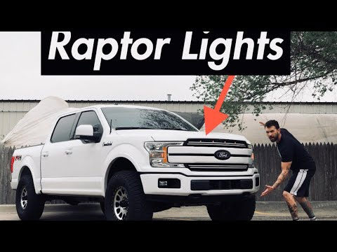 NEW RAPTOR LIGHTS ON MY 2018 Ford F-150!
