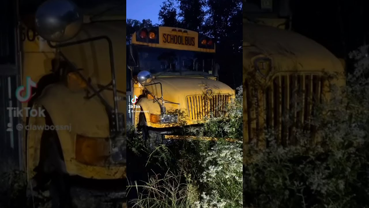 MY OLD SCHOOL BUS IS ABANDONED!!