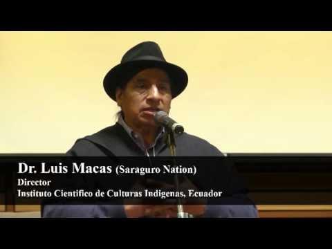 Dr. Luis Macas (Saraguro) Ecuador - Respecting the Rights of Mother Earth