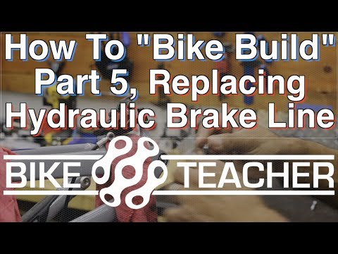 How to replace a Shimano XT rear hydraulic brake line, hose.