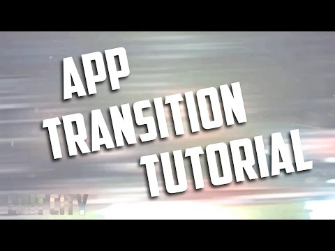 How to make a cool transition with apps!!!