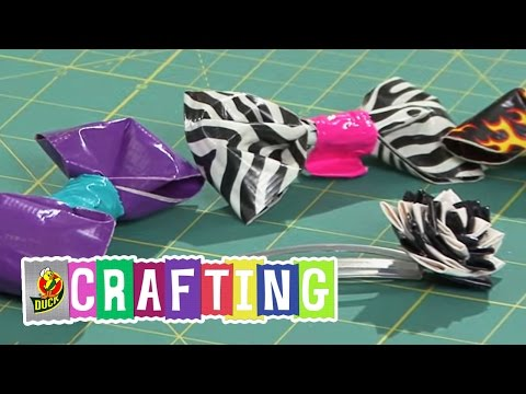 How to Craft a Duct Tape Bow and Hair Accessory