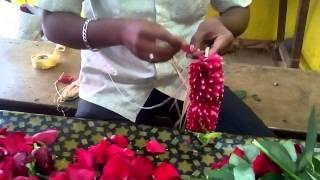 make a rose petals garland working