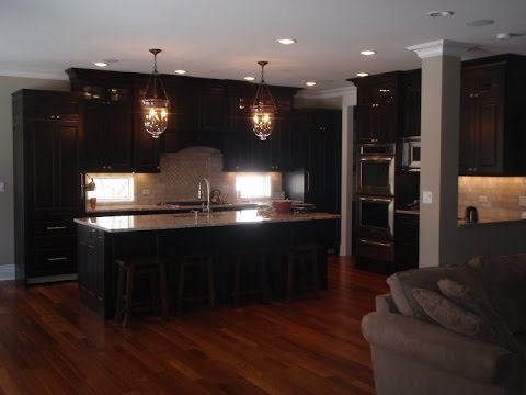 What Color Hardwood Floor with Espresso Cabinets