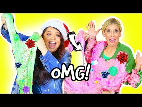 DIY Ugly Christmas Sweater SLIME Challenge! *GONE WRONG*