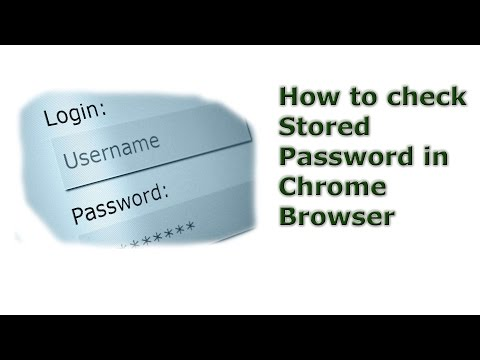 How to check stored passwords in chrome browser |  How to check visible password in browsers