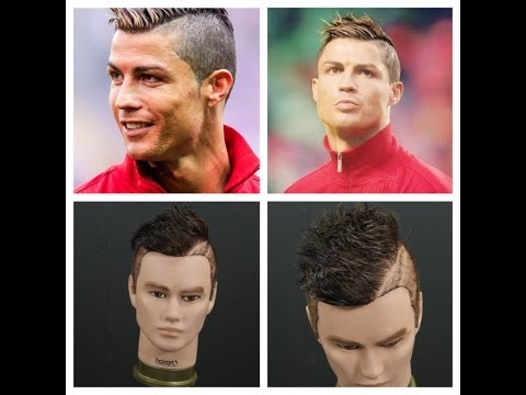 Cristiano Ronaldo Inspired Haircut Tutorial   TheSalonGuy