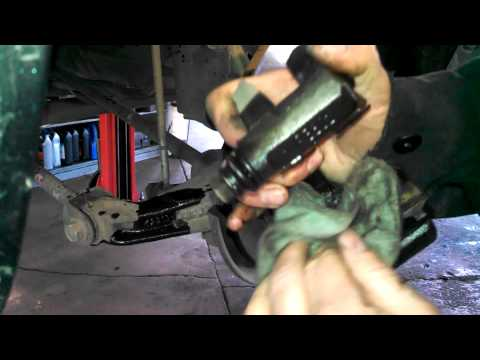 Rear brake pad replacement Toyota Camry 2006 install remove replace how to