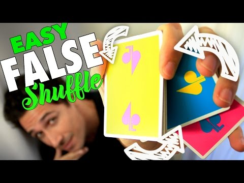 Easy FALSE Card Shuffling Trick with One Hand Tutorial
