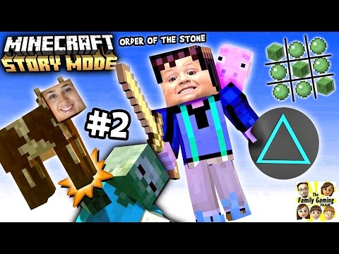 Lets Play Minecraft Story Mode #2: NO CHASE, No Triangles!!!! (Episode One: The Order of the Stone)