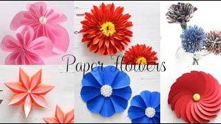6 easy paper flowers flower making diy 0623 6 diy paper flowers mightylinksfo