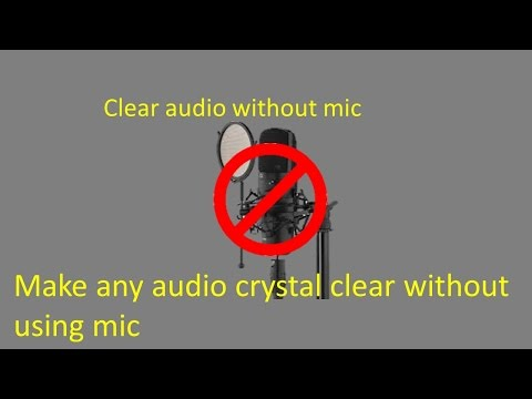 how to make video with clear audio without using mic || remove background noise