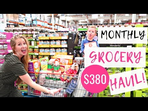 Once-A-Month GROCERY HAUL APRIL for our LARGE FAMILY  THM