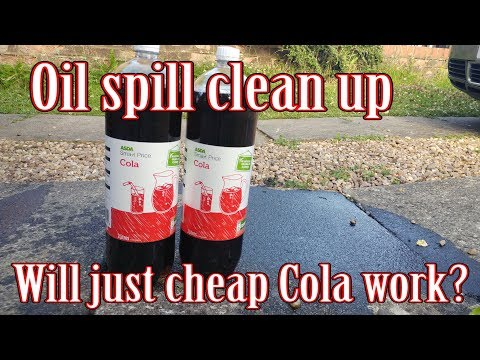 How to clean up after oil stains/spills quickly and cheaply!