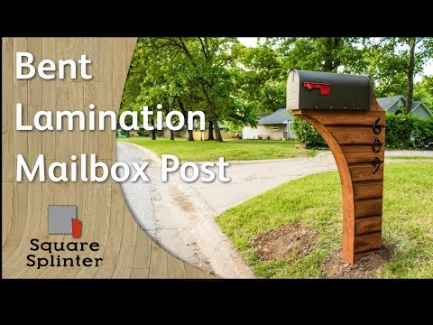 Bent Lamination Cedar Mailbox Post | Woodworking DIY, How-to