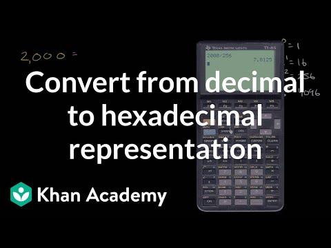 Converting from decimal to hexadecimal representation | Pre-Algebra | Khan Academy