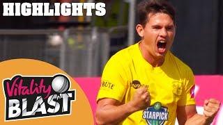 Thrilling Match Goes To Last Ball | Gloucestershire v Kent | Vitality Blast 2018 - Highlights