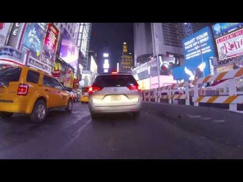 Midnight Ride Through Lincoln Tunnel & Times Square, New York City