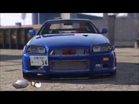 【GTA V】SKYLINE R34 - LED Custom & twin turbo -