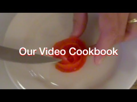 How to make Tomato Rose Food Decoration | Our Video Cookbook #81