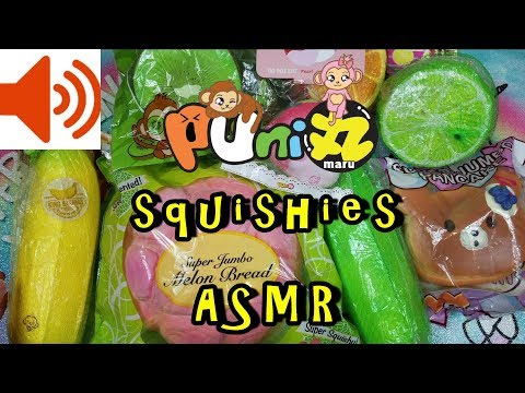MOST SATISFYING SQUISHIES ASMR Puni Maru COLLECTION CRINKLING FOR MAXIMUM TINGLING SOUND