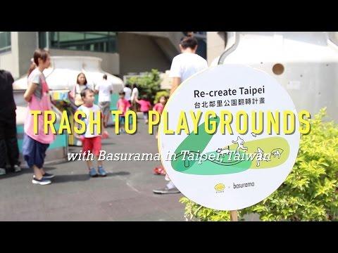Basurama turns trash into playgrounds in Taipei, Taiwan