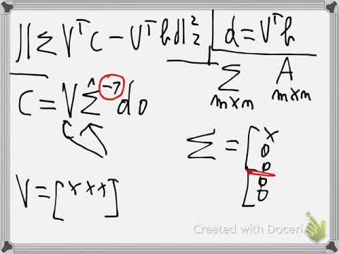 Least square approximation with SVD (new)