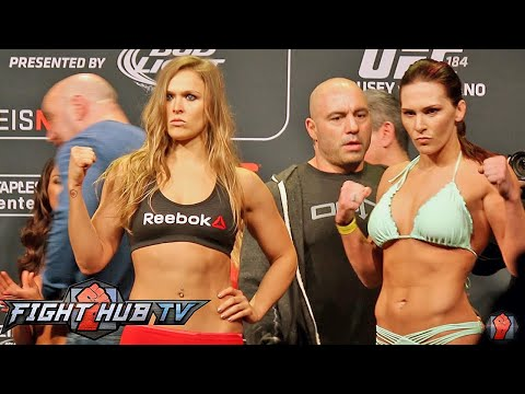Ronda Rousey Vs Cat Zingano Full Video Ufc 184 Full Weigh In Face Off