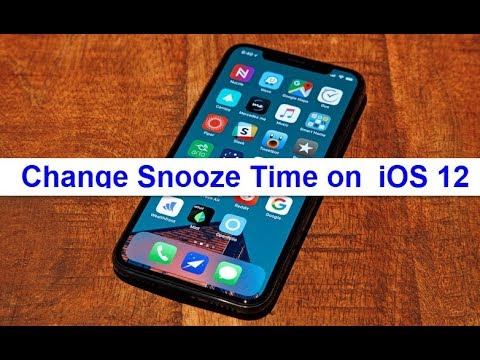 How to Change Snooze Time on iOS 12 (iPhone/iPad)