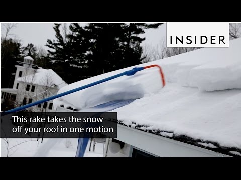 This rake takes the snow off your roof in one motion