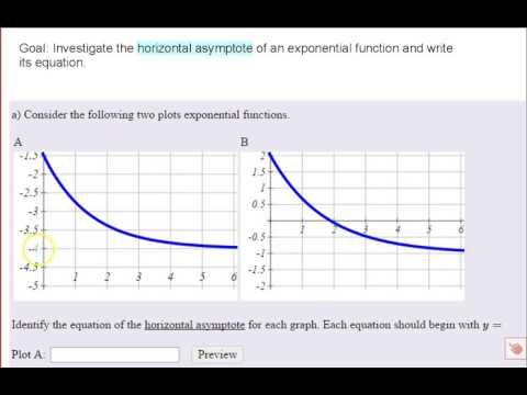 Exponential Function   Horizontal Asymptote