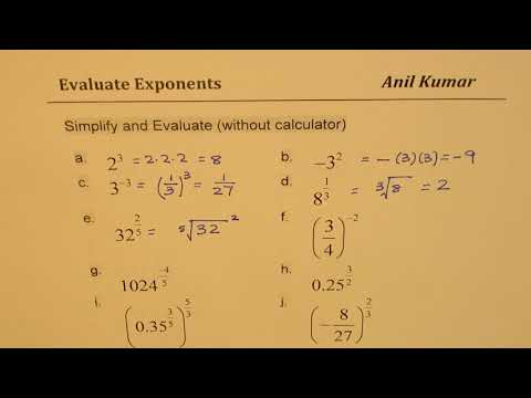 How to Simplify and Evaluate Exponents MPM2d IB Math