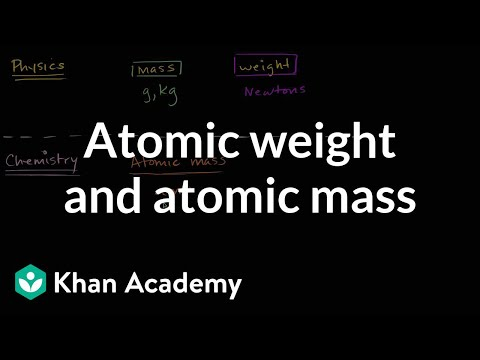 Atomic weight and atomic mass | Atoms, compounds, and ions | Chemistry | Khan Academy