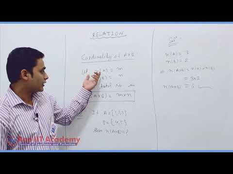 Set Relation Function Maths Part-6 std 11th HSC Board Video Lecture BY Rao IIT