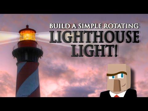 BUILD A ROTATING LIGHTHOUSE LIGHT: It's a Minecraft Gotta-Know!