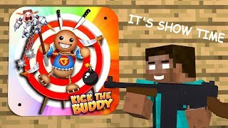 Download Monster School: KICK THE BUDDY GAME CHALLENGE - Minecraft Animation Video