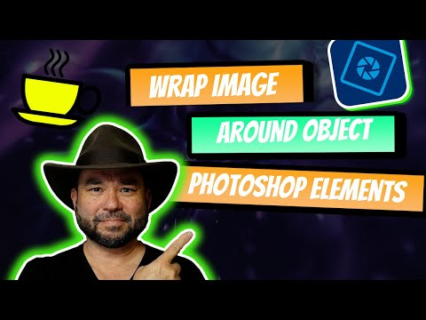 Photoshop Elements 14 wrap an image around an object