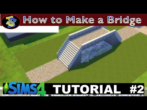 The Sims 4  - Tutorial Of how to Build a Bridge (No CC included)