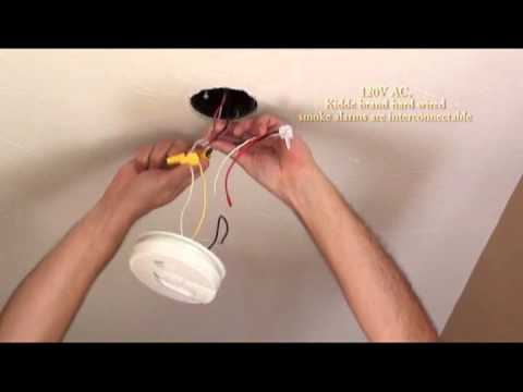 Install smoke alarm, Carbon Monoxide and Smoke Alarm Combination Installation video Kidde hardwire