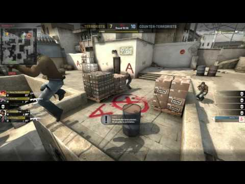 CSGO 1v4 No Kit Ninja Defuse (0.1 Seconds away from Dying)