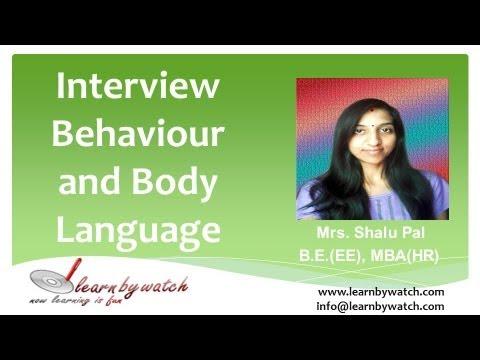 Interview Behaviour and Body Language (English)