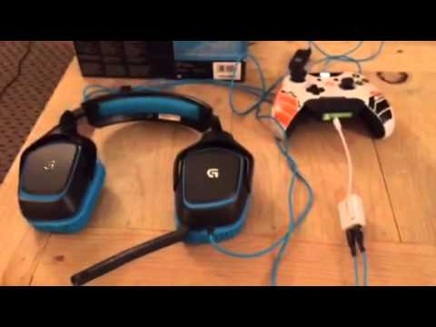 Logitech G430 headset set up for Xbox one
