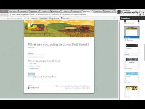 How to make a Google form, post in Canvas, and view results
