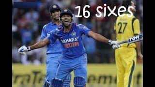 rohit sharma destructive innings big sixes | punching strokes frightens australia