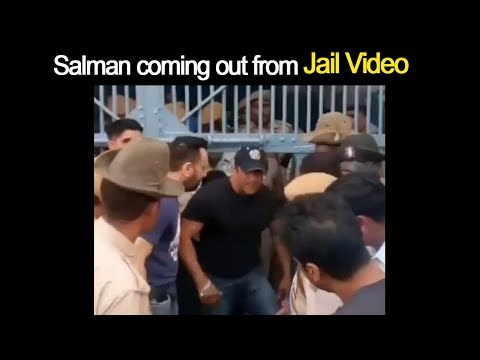 Salman coming out from Jail Video | Salman Khan Gets Bail in Blackbuck Poaching Case
