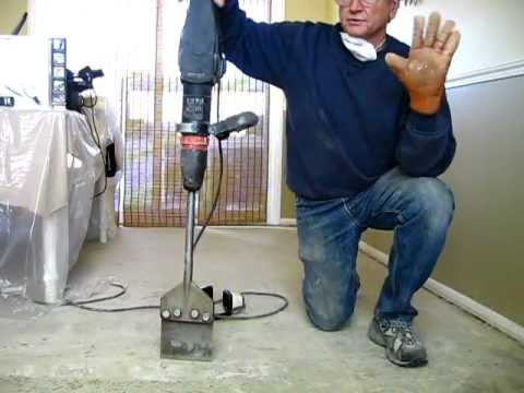 How to Remove tile mastic or thinset the easy way - Be Your Own Handyman @ Home