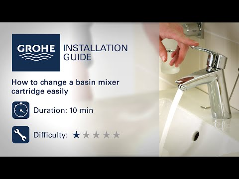 Change a GROHE basin mixer cartridge