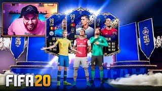VAN DIJK 99 + DE BRUYNE 98 TOTY NO MESMO PACK! Pack Opening TOTY FIFA 20